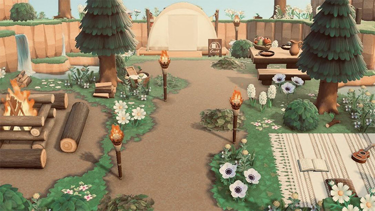 Campsite Cottagecore Design - ACNH