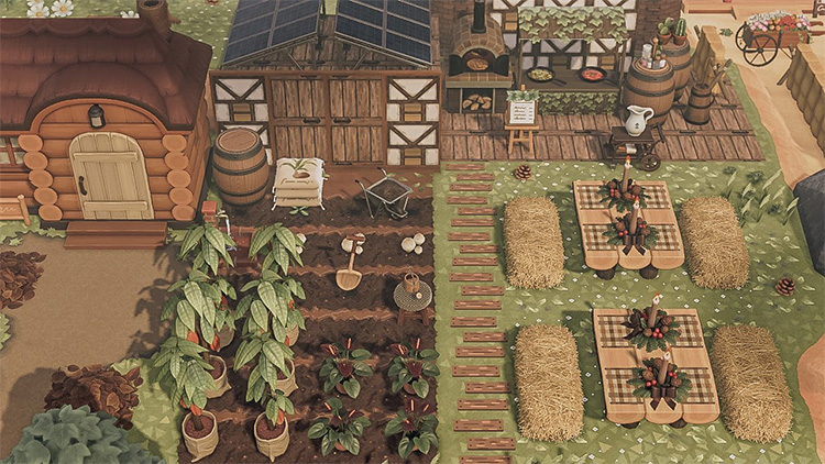 Rustic Farming Idea - ACNH Cottagecore