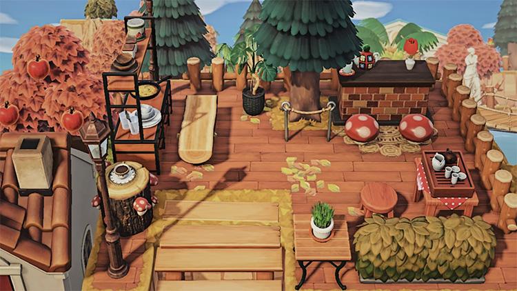 Cottagecore Mushroom Dining Area - ACNH