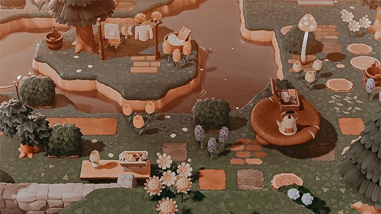 Magical Mushroom River Idea - ACNH