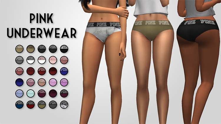 PINK Underwear Victorias Secret - Sims 4 CC