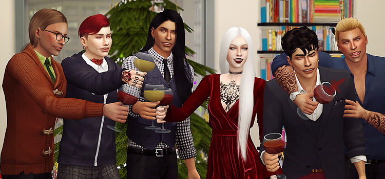Sims 4 New Year's Eve Party CC, Mods & Poses (All Free)