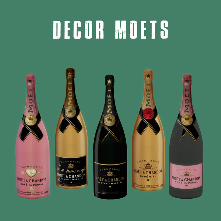 Moet & Chandon champagne CC for The Sims 4