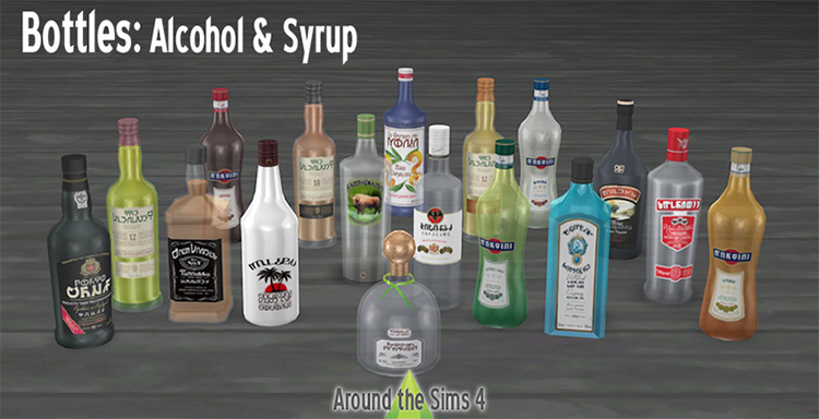 Alcohol and drinks CC for THe Sims 4