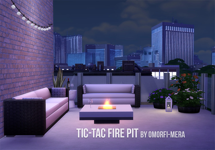 Fire Pit CC for The Sims 4
