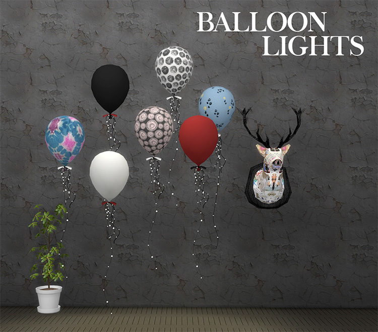 Balloon lights CC for The Sims 4