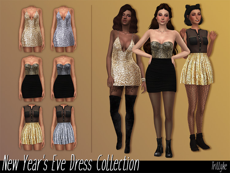 NYE Dress Collection - TS4 CC
