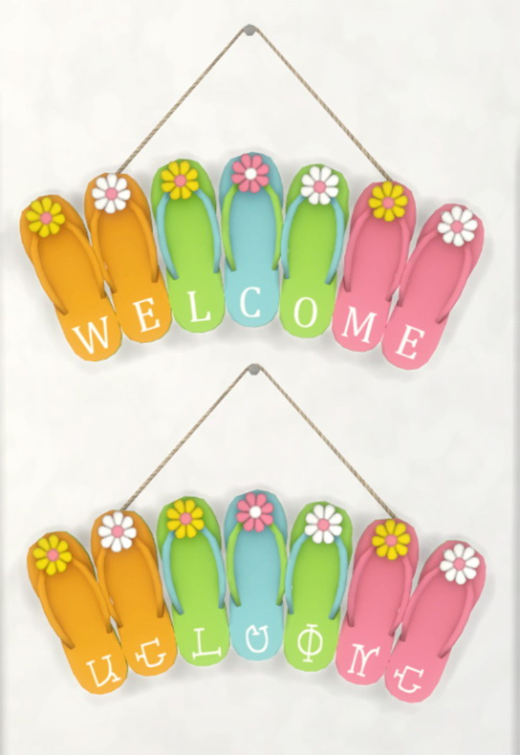 Flip Flop Welcome Signs CC