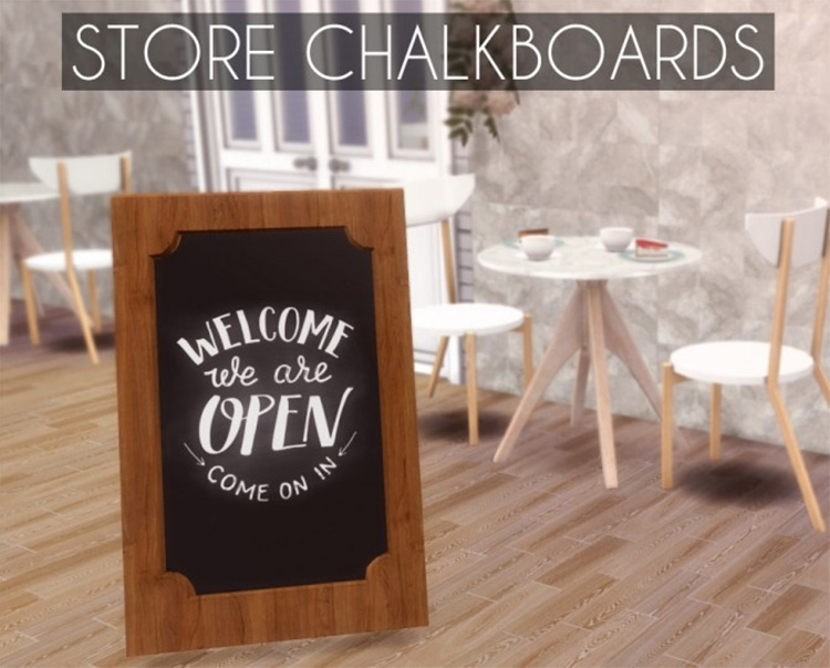 Store Welcome Chalkboard Signs CC