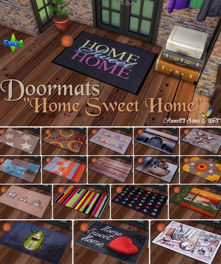 Custom Doormats CC for Sims 4