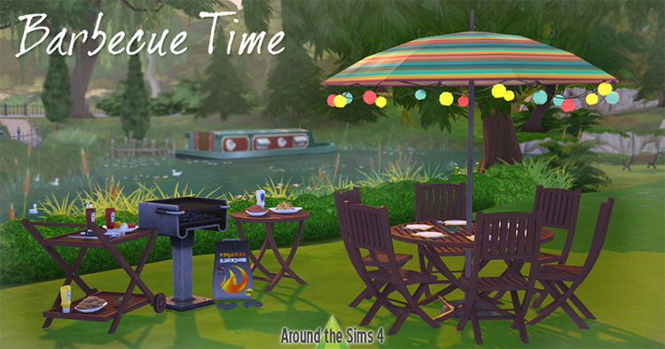 BBQ Time AroundTheSims CC Set for TS4