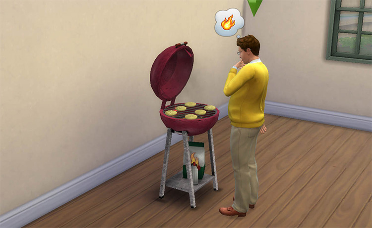 Round Charcoal Grill for The Sims 4