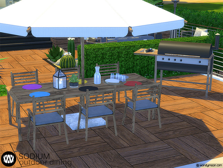 Outdoor Dining CC Set - The Sims 4