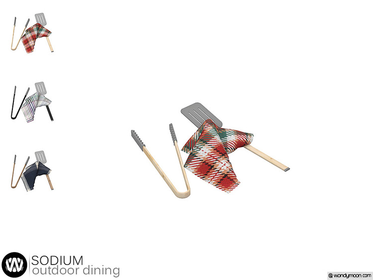 BBQ Cooking utensils CC for TS4