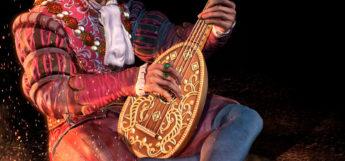 Bard playing instrument - digital painting