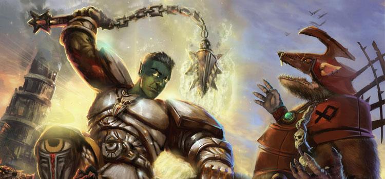 Half Orc Paladin Character Digital Painting