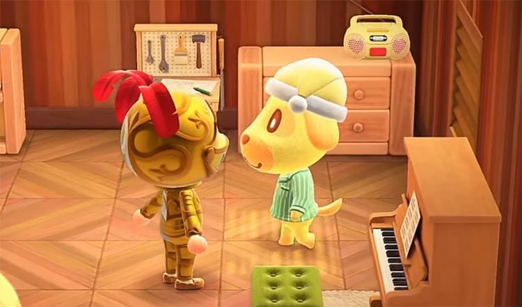 Goldie in Animal Crossing New Horizons