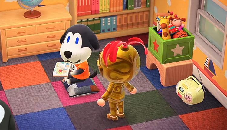 Walker dog in Animal Crossing New Horizons