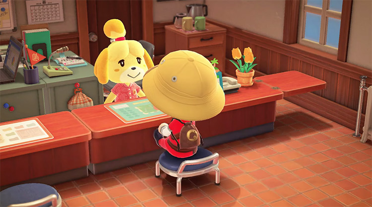 Isabelle in Animal Crossing New Horizons