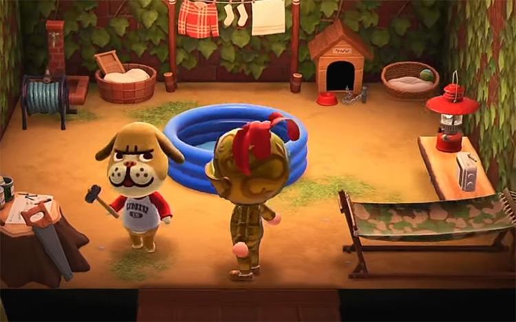 Mac dog in Animal Crossing New Horizons