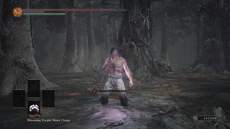 Blooming Purple Moss Clump in DS3