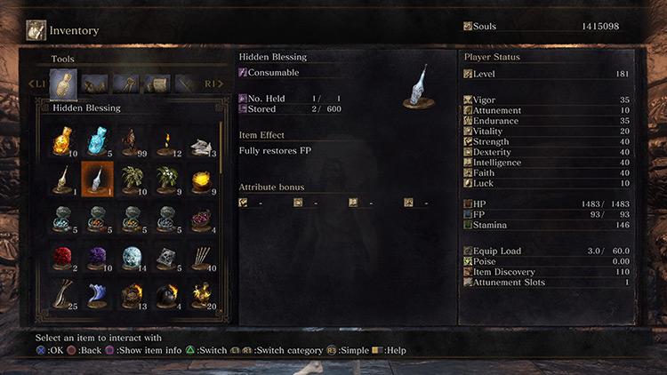 Hidden Blessing Dark Souls 3 screenshot