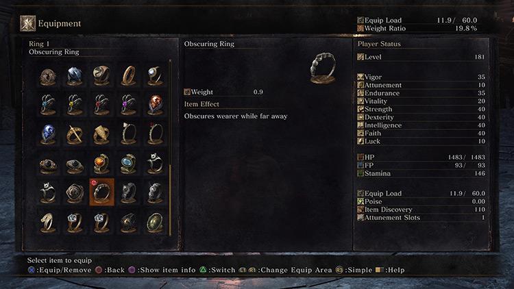 Obscuring Ring Dark Souls 3