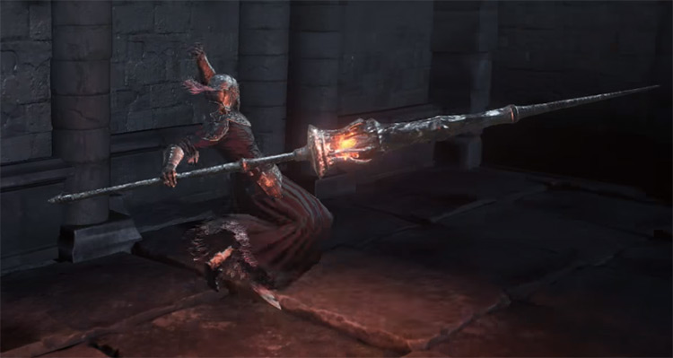 Gargoyle Flame Spear in DS3