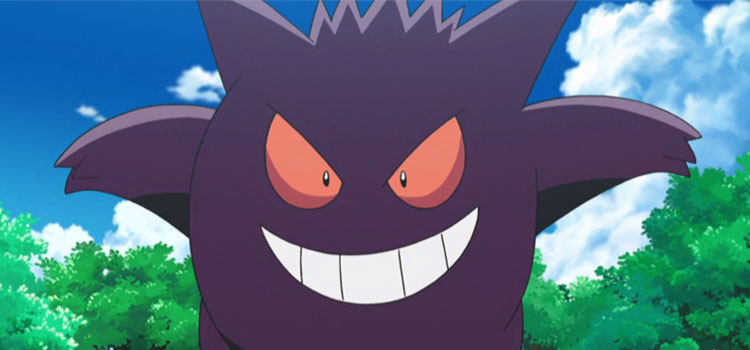 Gengar Smiling in the Pokemon Anime