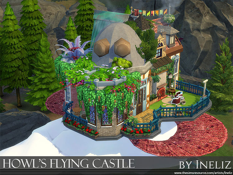 Howl's Flying Castle CC in The Sims 4