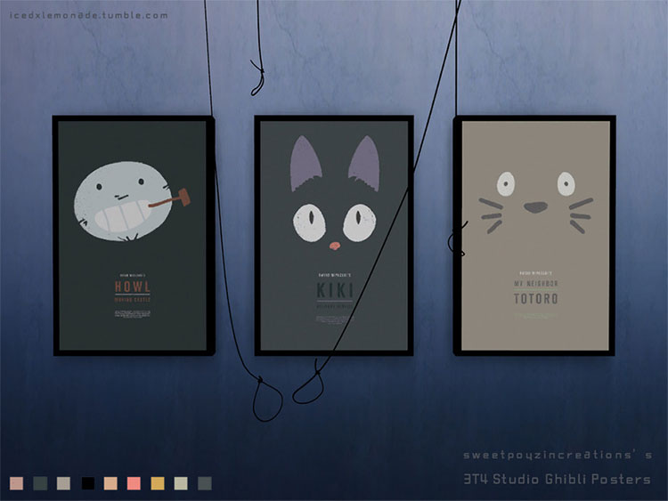 Studio Ghibli Movie Posters CC