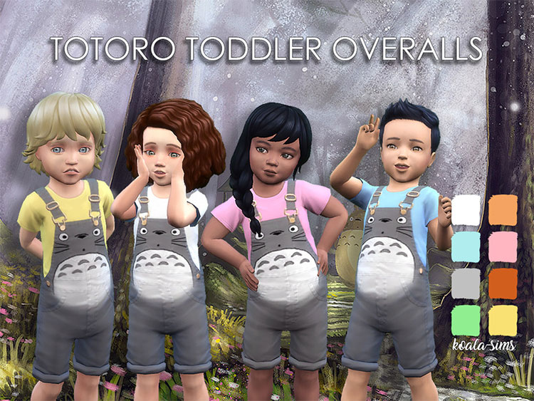 Totoro Toddler Overalls for The Sims 4