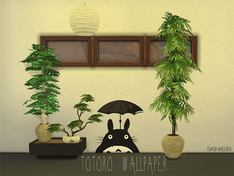 Totoro Wallpaper for The Sims 4
