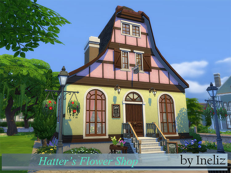 Hatter's Flower Shop CC - The Sims 4