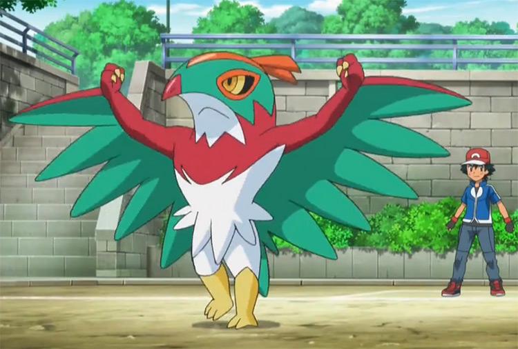 Hawlucha Pokemon in the anime