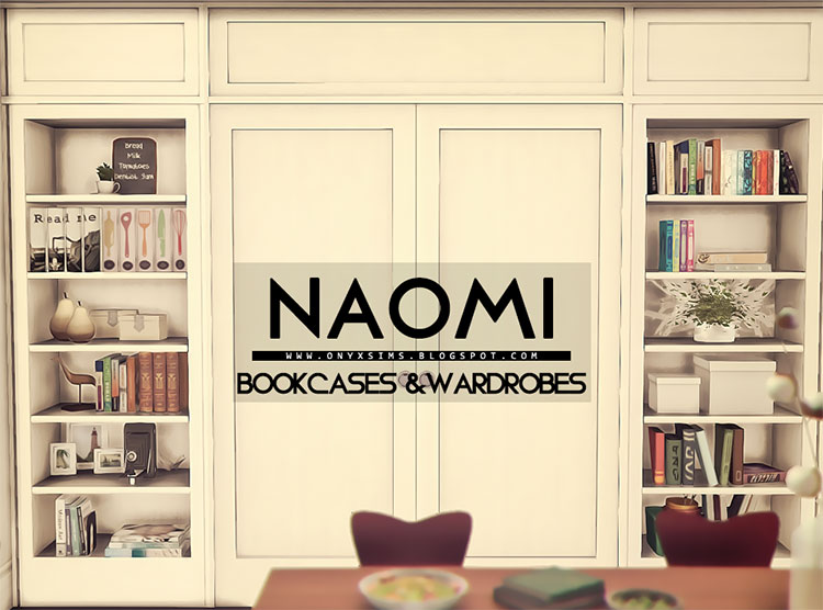 Bookcases & Wardrobes Mods for Sims 4