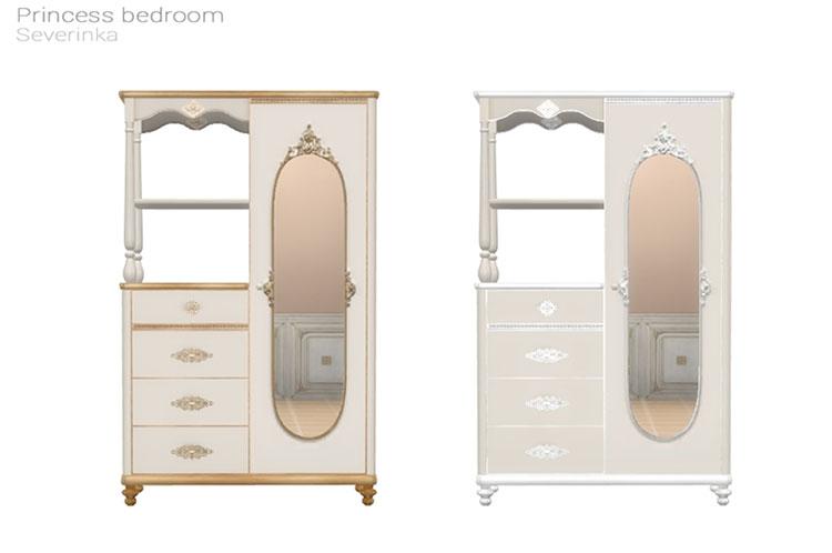 Princess Bedroom Wardrobe CC - The Sims 4