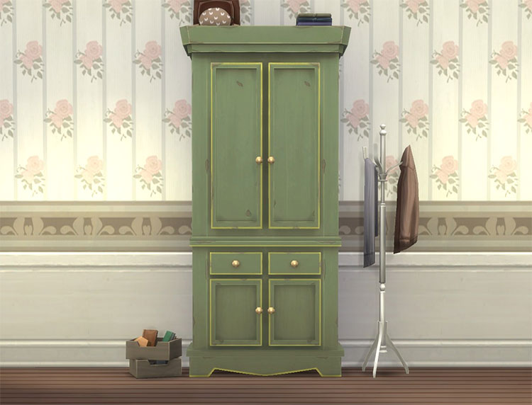 Country Armoire CC for The Sims 4