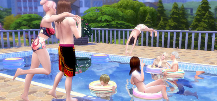 Swimming Poses Set - TS4 Pool Party Preview