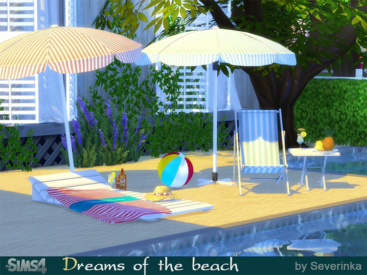 Dreams of the Beach Clutter CC - The Sims 4
