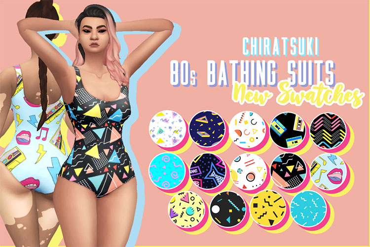 80s Bathing Suits CC for The Sims 4
