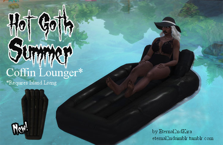 Goth Pool Float for The Sims 4
