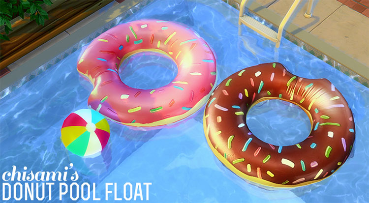 Donut Pool Float CC for The Sims 4
