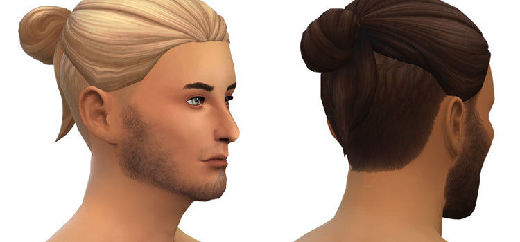 Sims 4 Man Bun Hair CC (All Free To Download)