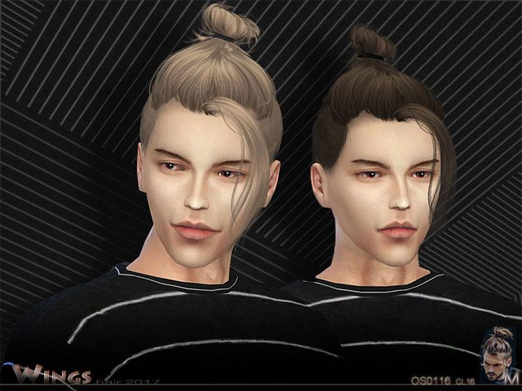 Top of the head Hair Bun for Men - TS4 CC