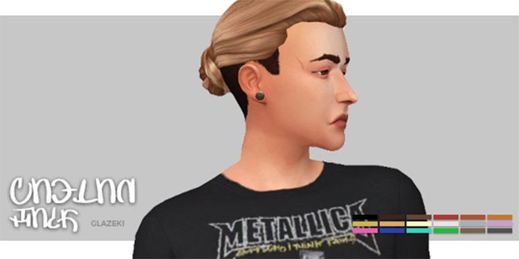 Back hairbun for men - Sims 4 CC