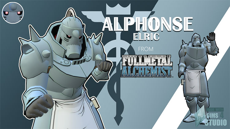 Big Alphonse Elric Armor CC for The Sims 4