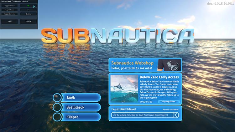 CheatManager Subnautica mod