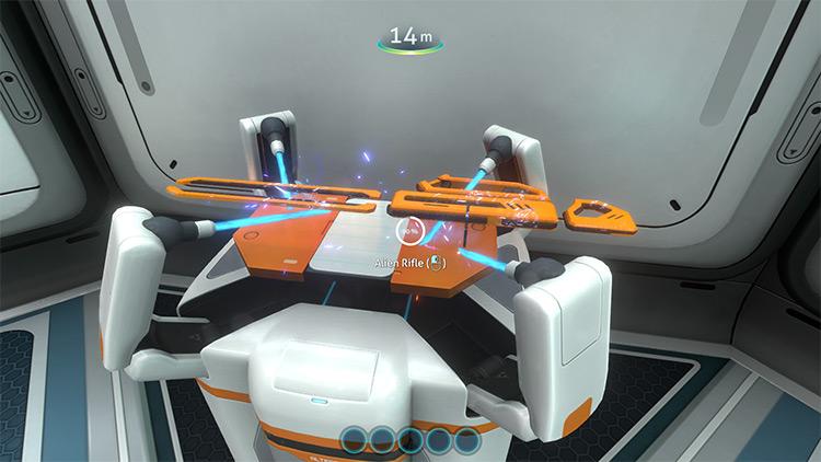 Alien Rifle mod for Subnautica