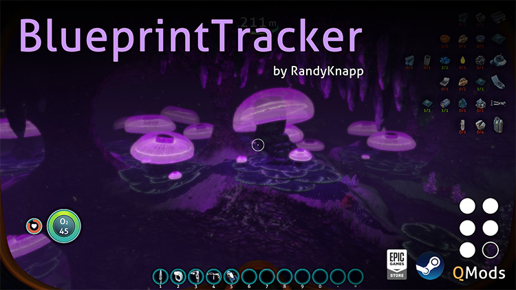 BlueprintTracker Subnautica mod